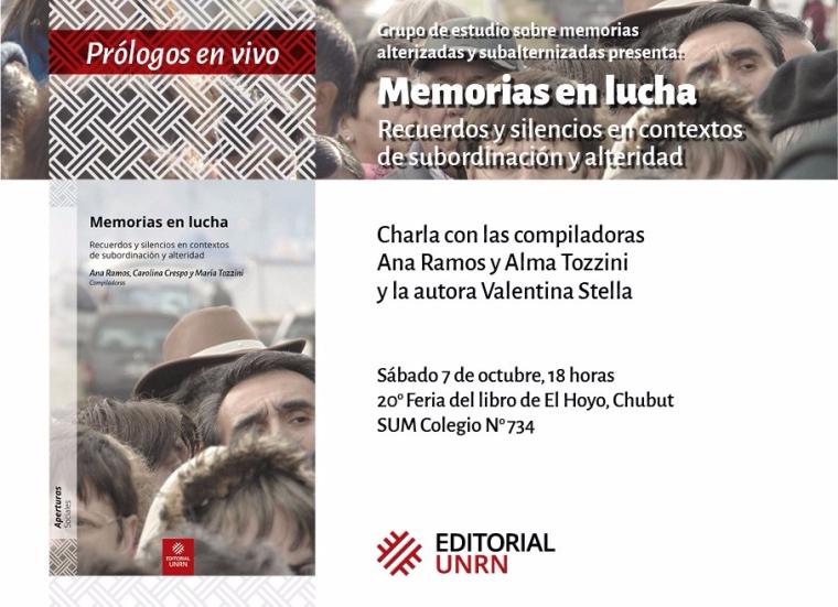 Presentación del libro_El Hoyo_7 oct_ FlyerdeMemorias